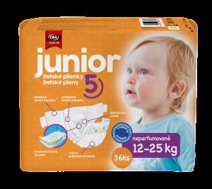 CBA Premium detské plienky junior 36 ks
