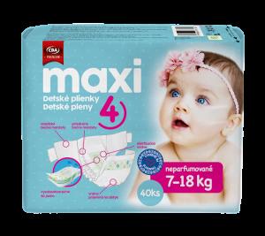 CBA Premium detské plienky maxi 40 ks