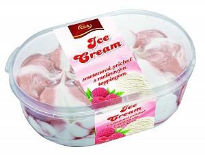 CBA Ice Cream smotanová príchuť smalinovým toppingom 900 ml