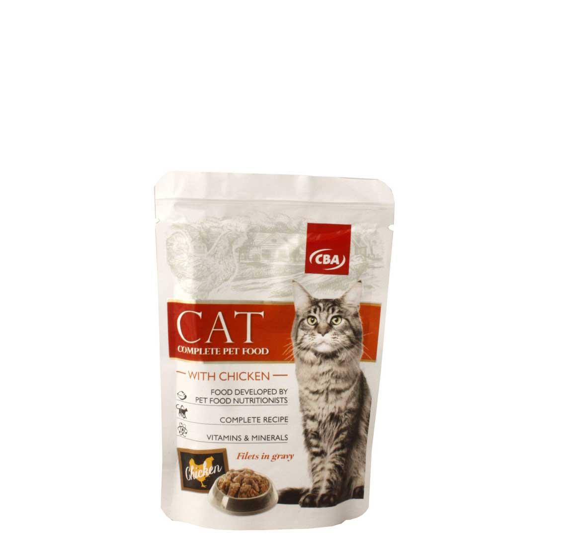 CBA kapsička filetky - kompletné krmivo pre mačky s kuracinou 85g