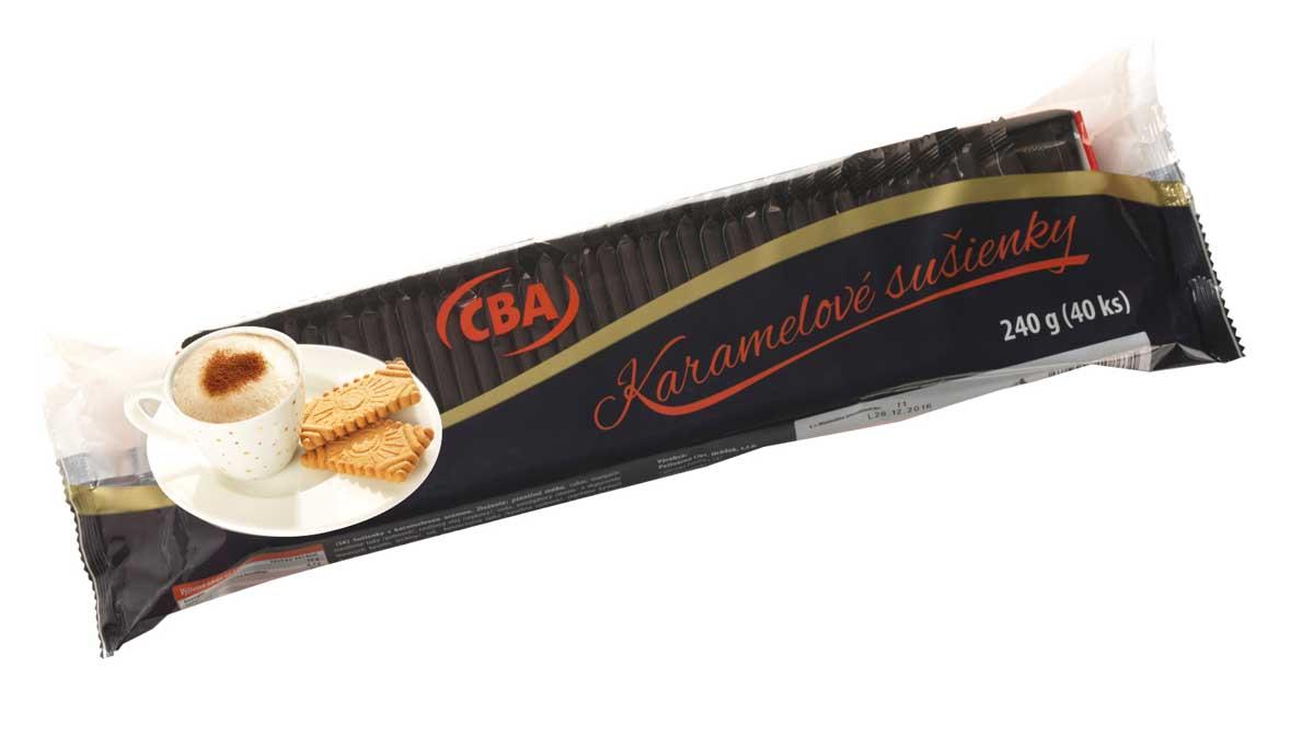 CBA karamelové sušienky 240 g (40 x 6 g)