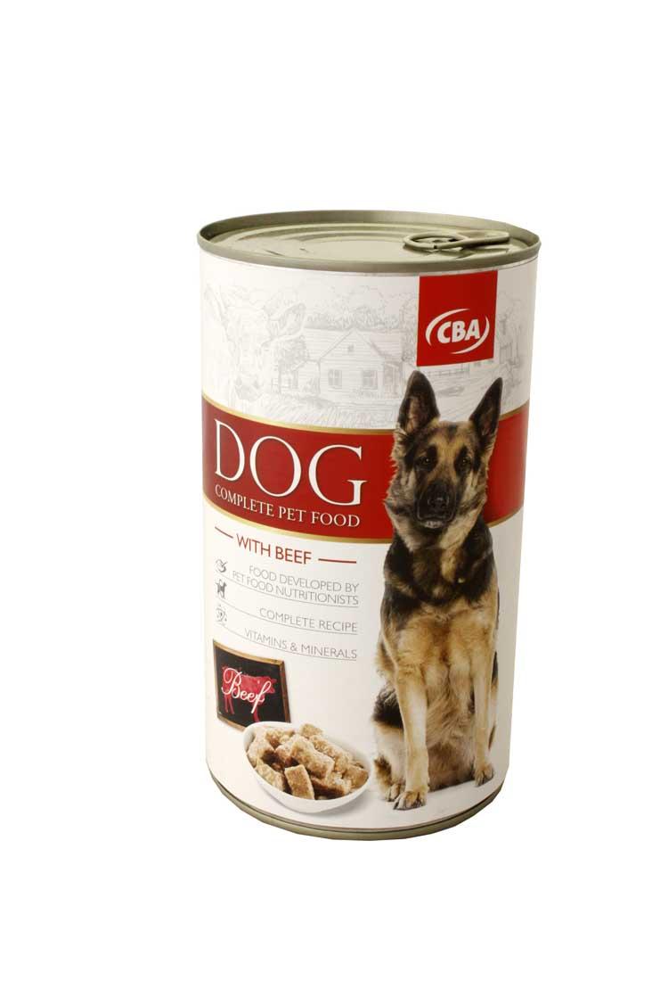 CBA kompletné krmivo pre dospelé psy s hovädzinou 1240g