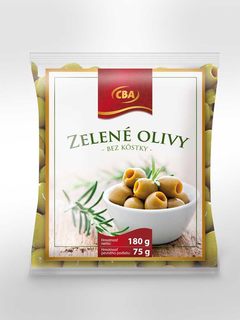 CBA Zelené olivy bez kôstky 180 g