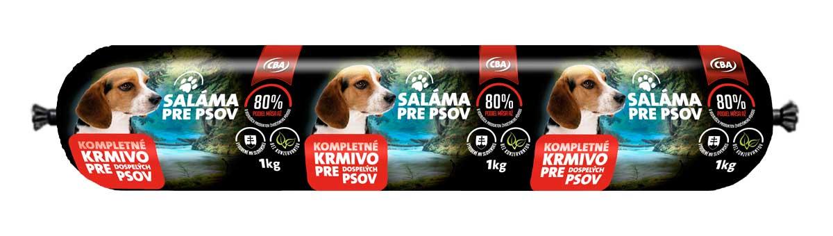 CBA saláma pre psov 1 kg