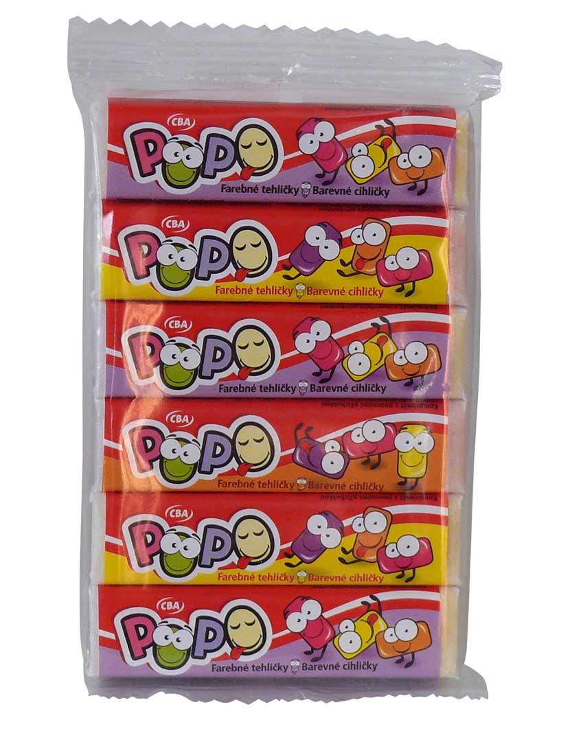 CBA POPO farebné tehličky 6 x 7,5 g