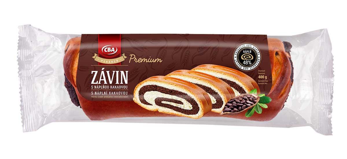 CBA Premium závin s náplňou kakaovou 400g